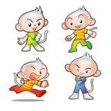 Monkey mascot. Cute kids monkey mascot character Royalty Free Stock Photo