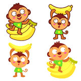 Monkey Mascot Royalty Free Stock Photos