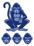 Monkey mascot Stock Image