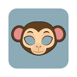 Monkey mask for festivities royalty free illustration
