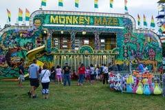 Monkey Maze / Funhouse. Buchanan, VA - June 29: Monkey Maze / Funhouse at the annual Buchanan Community Carnival on June 29, 2015, Buchanan, Virginia, USA royalty free stock photos