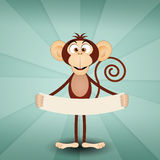 Monkey with message Royalty Free Stock Photos