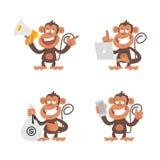 Monkey money and technology Royalty Free Stock Image