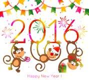 Monkey New Year 2016 Stock Images