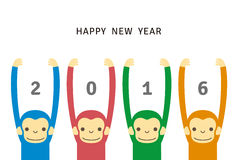 Monkey, new year card Royalty Free Stock Images