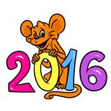Monkey 2016 New Year Royalty Free Stock Photos