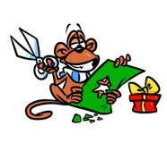 Monkey New Year Handmade card Royalty Free Stock Images