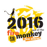 Monkey new year illustration with character means Monkey. Monkey new year illustration Royalty Free Stock Photos