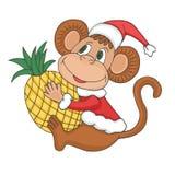 Monkey New year 2016. Monkey symbol of New year 2016. Carton animal. Colorful vector illustration stock illustration