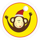 Monkey 2016 New year symbol. Funny monkey 2016 New year symbol Stock Images