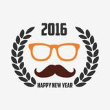 Monkey New Year 2016. Template Stock Photography