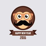 Monkey New Year 2016. Template Stock Image