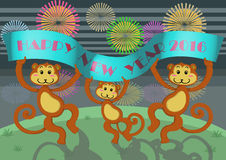 Monkey new year Royalty Free Stock Photos