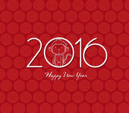 Monkey o projeto para a celebração 2016 chinesa do ano novo Foto de Stock Royalty Free