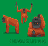 Monkey Orangutan Cartoon Vector Illustration. Animal Cartoon EPS10 File Format Royalty Free Stock Photography