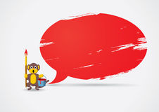Monkey painted the speech bubble Royalty Free Stock Photo