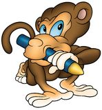 Monkey Painter Royalty Free Stock Photography