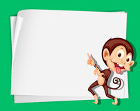 Monkey on paper Stock Images
