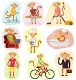 Monkey people vector illustration. Stock Photos