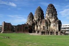 Monkey in Phra Prang Sam Yot Royalty Free Stock Image