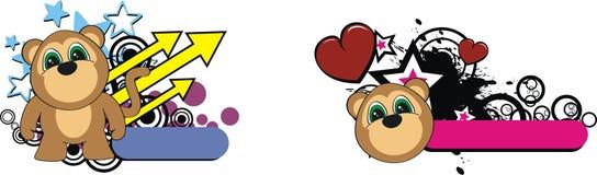Monkey plush cartoon copyspace Royalty Free Stock Images