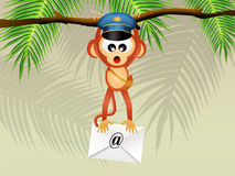 Monkey postman Royalty Free Stock Photography