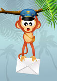 Monkey postman Stock Photo