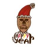 Monkey print. Happy New year card. Year of Monkey. Vector artwork. Monkey print. Happy New year card. Year of Monkey. Vector artwork stock illustration