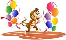 A monkey racing Royalty Free Stock Photos