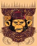 Monkey rapper royalty free illustration