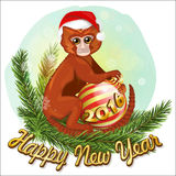 Monkey 2016. 2016 is the Red Fire Monkey year according to Chinese Horoscope calendar Stock Image