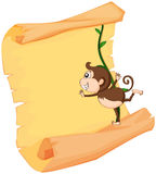A monkey and a roll Stock Image