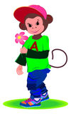 Monkey.Romantic boy Royalty Free Stock Photo