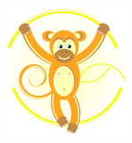 Monkey on rope Stock Images