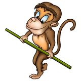Monkey ropewalker Royalty Free Stock Photography