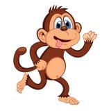 Monkey running Cartoon Royalty Free Stock Photography
