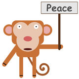 Monkey's peace Royalty Free Stock Image