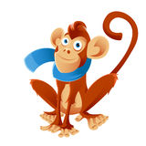 Monkey and the scarf Stock Image