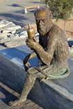 Monkey Sculpture in Badalona, Spain Stock Photo