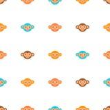 Monkey seamless pattern Royalty Free Stock Photos