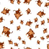 Monkey seamless pattern stock illustration