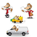 Monkey selling product, placeholder for product Royalty Free Stock Image