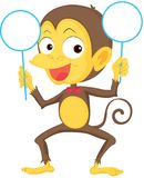 A Monkey Showing Boards Royalty Free Stock Photo