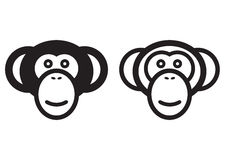 Monkey sign royalty free illustration