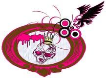 Monkey skull and eagle Royalty Free Stock Photography