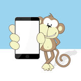 Monkey smartphone Stock Photos