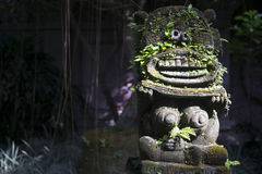 Monkey spirit sculpture in Arma Museum on the right, Ubud, Bali, Indonesia Royalty Free Stock Photo