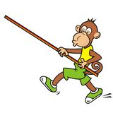 Monkey, sportsman Stock Image