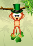 Monkey for St.Patrick's day Stock Photos