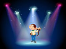 A monkey standing at the stage Royalty Free Stock Images